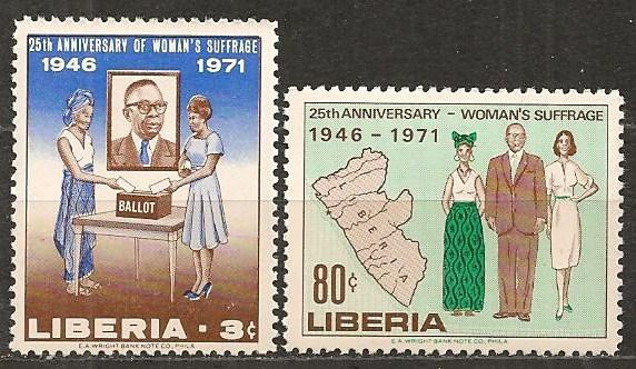 Liberia #555-6 Mint Never Hinged F-VF CV $2.35 (ST1246)