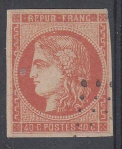 France Scott 47b Used (4 margins) - Catalog Value $190.00