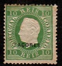 Azores #32  Mint  Scott $120.00   Toned
