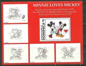 Dominica MNH S/S Minnie Loves Mickey