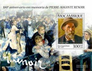 Z08 IMPERF MOZ190418b MOZAMBIQUE 2019 Pierre-Auguste Renoir MNH ** Postfrisch