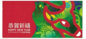 MCI39) Christmas Island 2009 Year of the Ox Minisheet Stamp Pack MUH