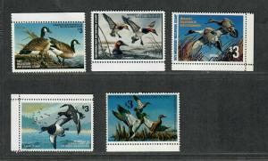 Minnesota Sc#1-5 M/NH/VF, State Duck Stamps, Cv. $60.50
