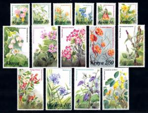 [66885] Kenya 1983 Flora Flowers Blumen 15 Values MNH