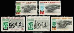 Dominican Republic Scott 522-524, C113-C114 Mint never hinged.