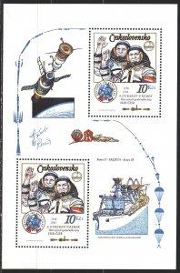 Czechoslovakia. 1983. bl53. Space. MVLH.