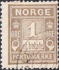 Norway #J1 Used