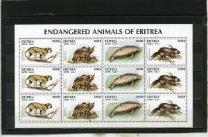 ERITREA 1996 WILD ANIMALS/ENDANGERED FAUNA SHEET OF 12 STAMPS MNH