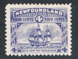 NEWFOUNDLAND 90 MINT F-VF LH 4c GUYS SHIP