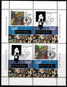 1995 Slovenia Scott Catalog Number 240a Unused Never Hinged Block of Four
