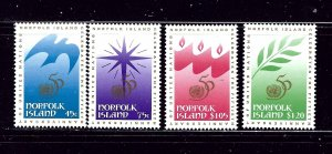 Norfolk Is 592-95 MNH 1995 Christmas and U.N. Anniversary