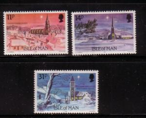 Isle of Man Sc 294-6 1985 Christmas stamps mint NH