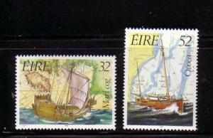 Ireland Sc 858-9 1992 Ships Maritime Heritage Year stamp set mint NH
