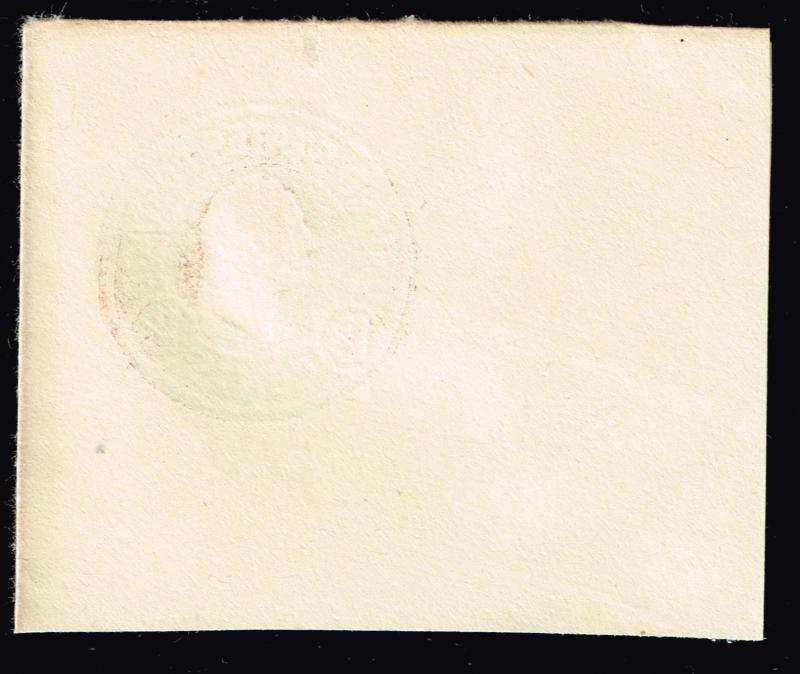 US STAMP BOB #  1.5C BROWN Stamped Envelope ERROR CUT SQ