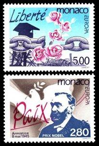 1995 Monaco 2030-2031 Europa Cept 4,50 €