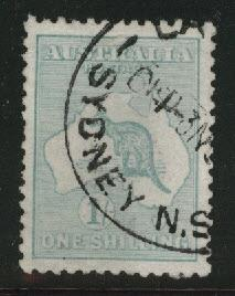 Australia Scott 42 Used Kangaroo & Map 1915 wmk 9 CV $35