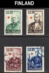 Finland Scott B27-30 complete set F to VF used.