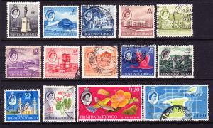 TRINIDAD & TOBAGO 1960-67  QEII  PICTORIALS  PART SET 14  FU