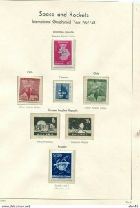 Space & Rockets Worldwide Collection MNH on Lighthouse Hingeless 6 pages 11455