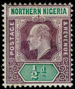 NORTHERN NIGERIA SG10, ½d dull purple & green, M MINT. WMK CA