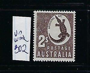 AUSTRALIA SCOTT #302 1956-57 ABORIGINAL ART (UNWMK)- MINT LIGHT HINGED
