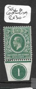 EAST AFRICA AND UGANDA   (P0609B) KGV 3C SG66A  CONTROL SINGLE MOG