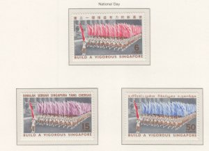 SINGAPORE, 1967 National Day set of 3, mnh.