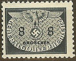 Stamp Germany Poland General Gov't Official Mi 17 Sc NO17 1940 WW2 Emblem MNH