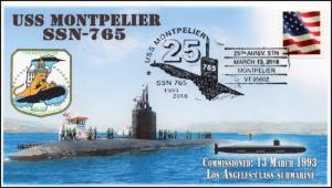 18-031, 2018, USS Montpelier, SSN-765, Pictorial Postmark, Event Cover