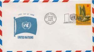 United Nations, First Day Cover, Airmail, Postal Stationery