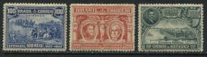 Brazil 1922 Independence set of 3 mint o.g. hinged