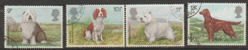 Great Britain SG 1075 - 1078 set Used  First Day of Issue cancel