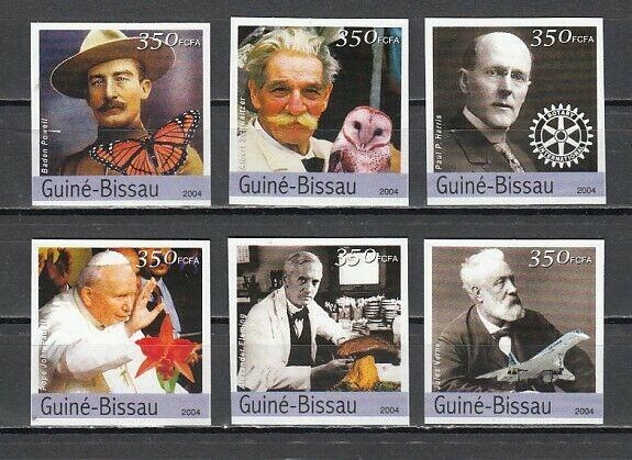 Guinea Bissau, 2004 issue. Personalities, IMPERF issue. ^