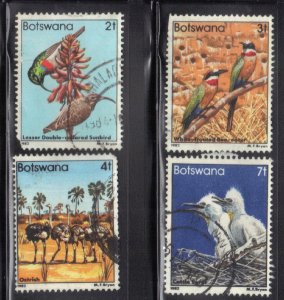 BOTSWANA SC# 304-06+09 **USED**   1982  BIRDS  SEE SCAN