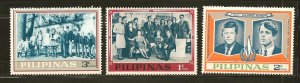 Philippines Kennedy Families Lot of 3 Stamps MNH
