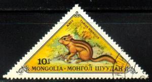 Siberian Chipmunk, Mongolia stamp SC#736 Used