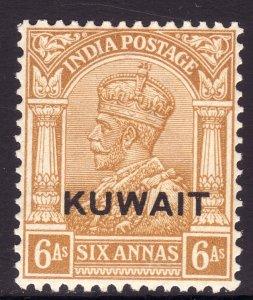 1937 British Kuwait KGV 6 Anna issue MNH Sc# 28 Wmk 196 CV $42.50