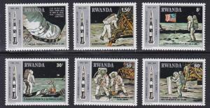 Rwanda # 951-956, Apollo 11 Moon Landing Anniv, NH, 1/3 Cat