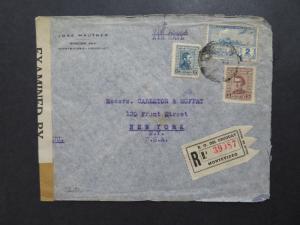 Uruguay 1942 Censor Registered Cover to New York - Z8139
