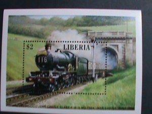 LIBERIA- LOCO MOTIVES-THE BRISTOLIAN TRAIN-S/S MNH-VERY FINE