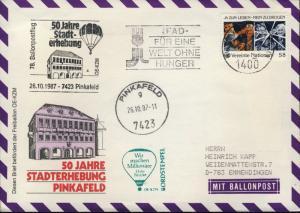 AUTRICHE / AUSTRIA / United Nations VIENNA 1987 78th Ballon Post Flight Cover