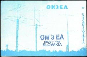 QSL Radio Card Dr. Harry Cincura,OK3EA,Pic of Antennas,Czechoslovakia,(Q3354)