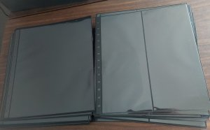 BLACK PAGES for sheets/covers, etc, Lot of 80 - one & two pockets - Retail $224!