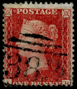 SG40, 1d rose-red PLATE 57, LC14, USED. Cat £18.