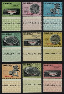 Honduras Olympic Games Tokyo 9v Margins Ovpd OFFICIAL 1965 MNH SG#O650-O658