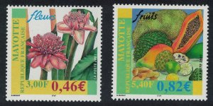 Mayotte Flower and Fruit 2v SG#139-140
