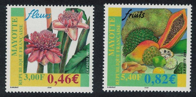 Mayotte Flower and Fruit 2v SG#139-140
