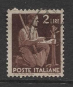 Italy - Scott 470 - Definitive -1945 -VFU - Single 2.l Stamp