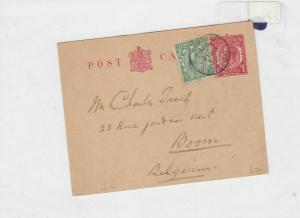 england to belgium 1922 postcard  ref 8600