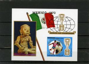 MANAMA 1970 Bl.#57B SOCCER WORLD CUP MEXICO S/S IMPERF. MNH